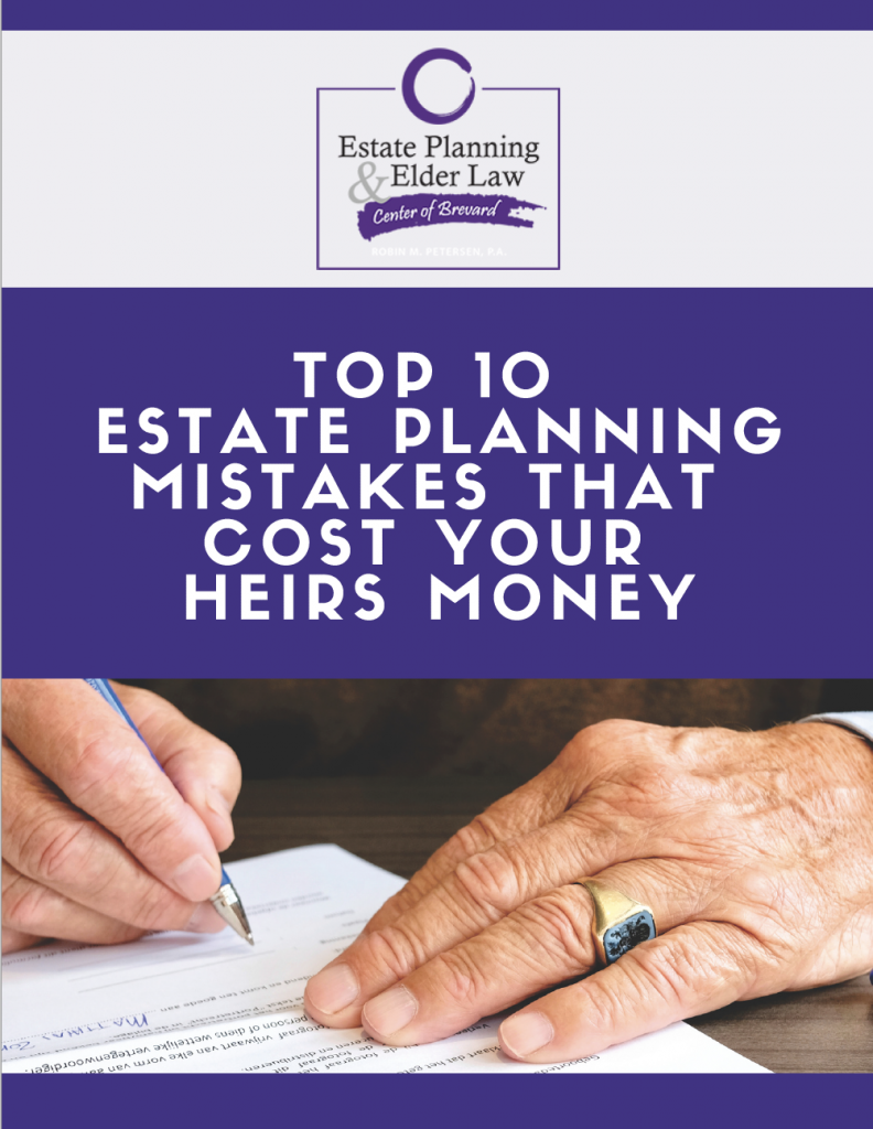 Ebook Cover Top 10 Estate Planning Mistakes That Cost Your Heirs Money